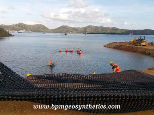 High Quality Warp Knitting Polyester Geogrid
