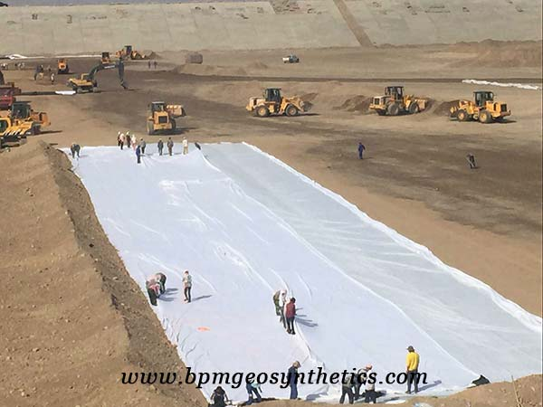 Short Staple Needled Punched Geotextile for reservoirs