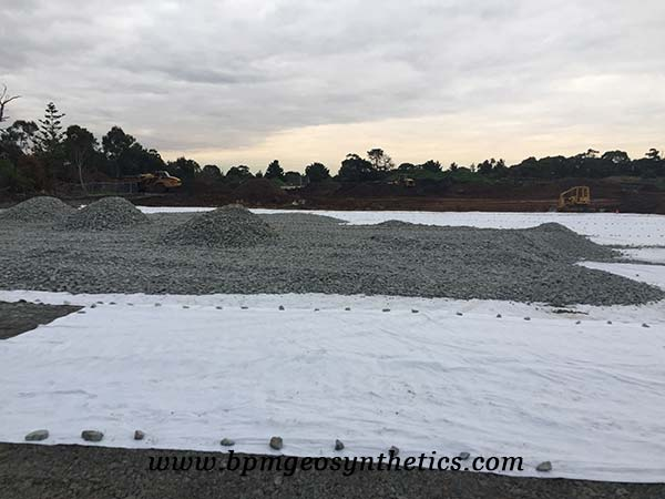 Short Staple Needled Punched Non woven Geotextile for road constructon