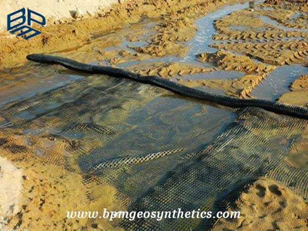Warp Knitting Polyester Geogrid Application