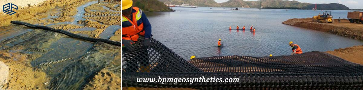 Warp Knitting Polyester Geogrid Applications