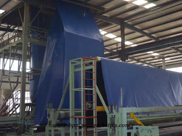 automatic geomembrane production machine