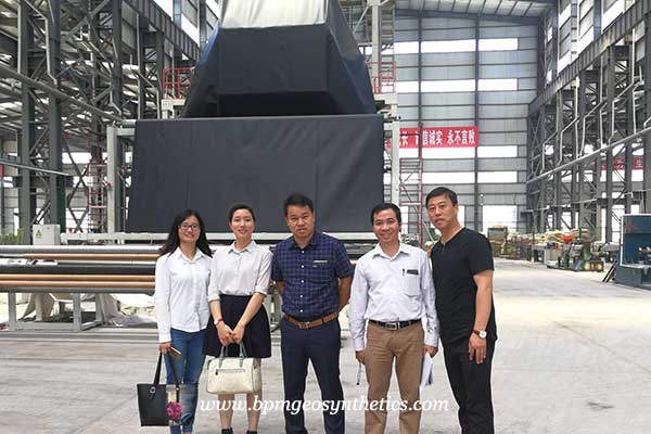 geomembrane customer from Vietnam