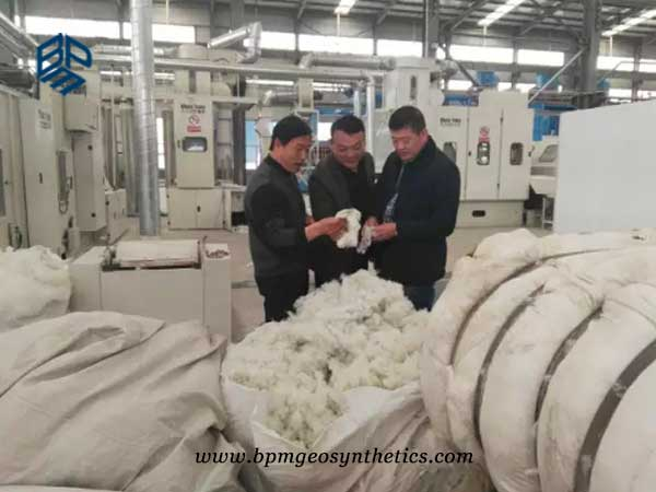 geosynthetics raw materials in factory
