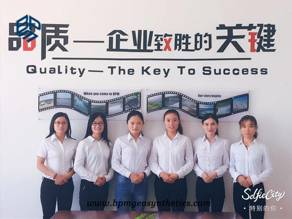 sales team of geosynthetics products