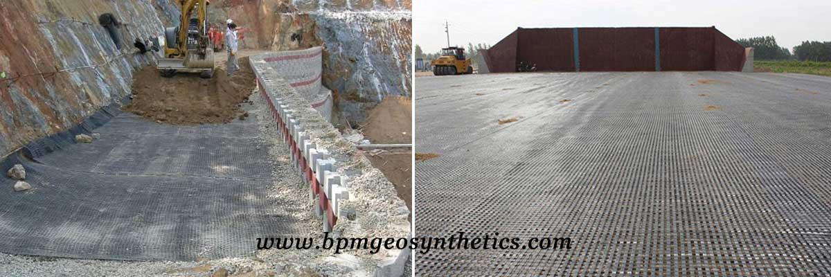 High Quality Fiberglass Geogrid Application