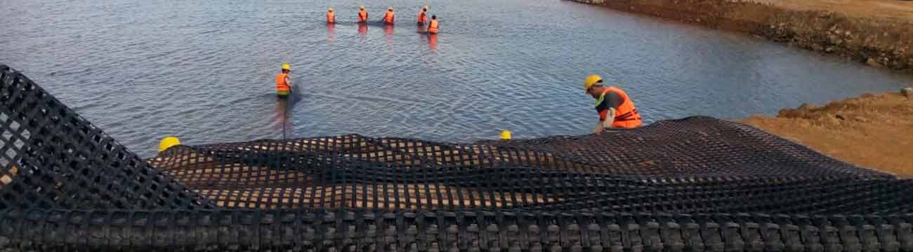High quality geogrid for Port construction banner