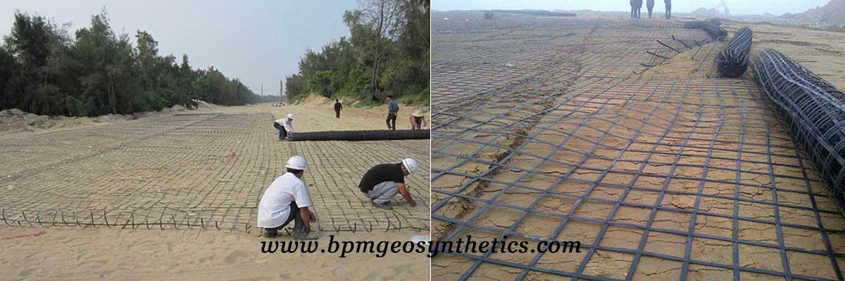 Steel Plastic Geogrid Reinforcement for Road Construction