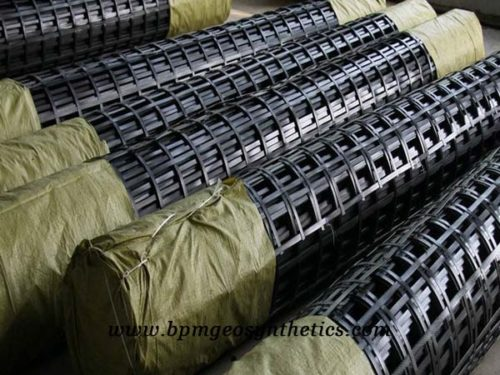 Steel Plastic Geogrid Reinforcement for Sale