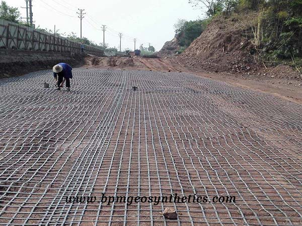 Steel Plastic Geogrid Reinforcement for soil reinfrocement