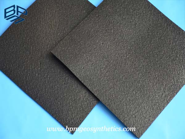Textured geotextiles and geomembranes