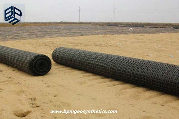Polyester Geogrid Fabric for Railway Project