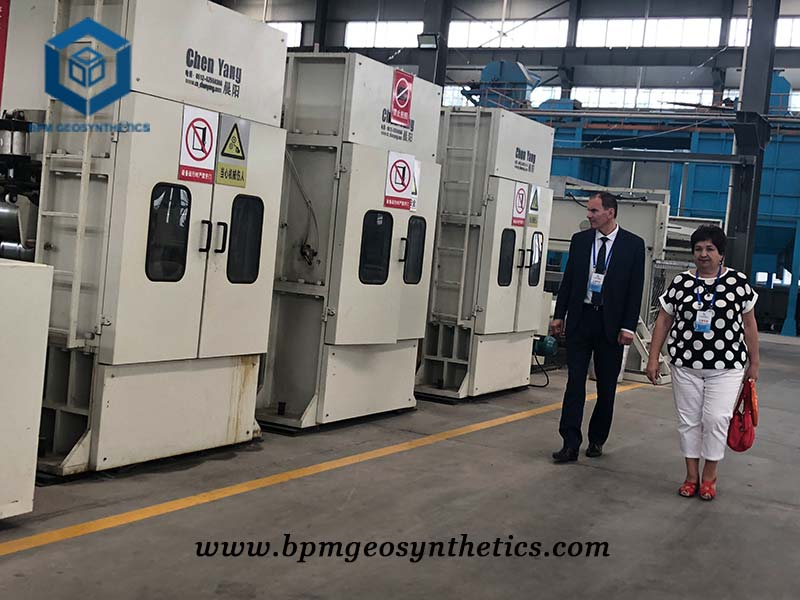 Belarus New Material National Academy Visited BPM Geotech Fabric
