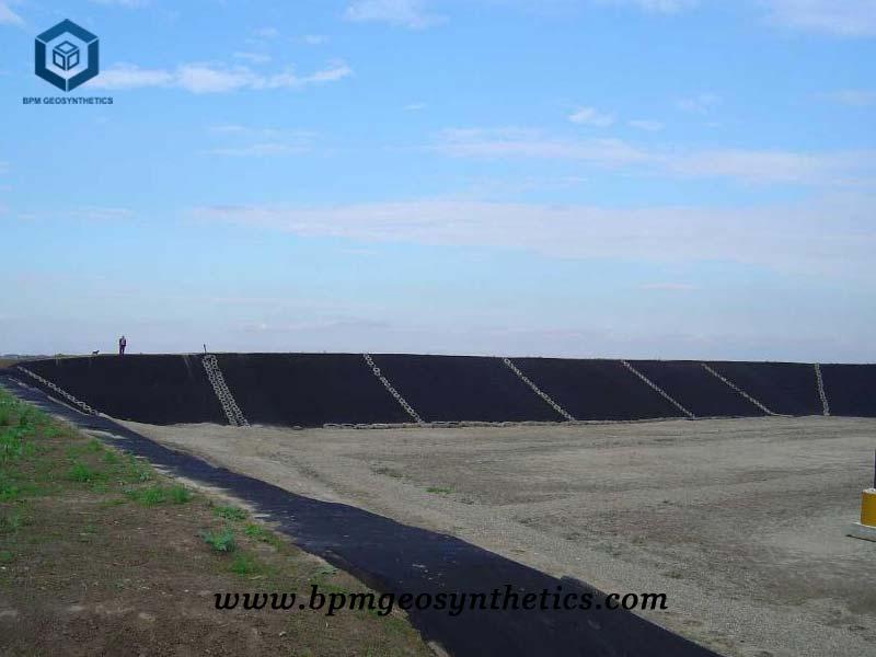 Black High Density Polyethylene Pond Liner for Salt Pond