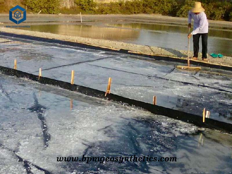 Pond Membrane for Salt Containment