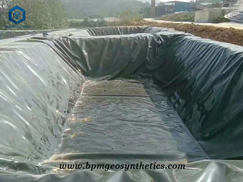 HDPE Pond Liner for irrigation in Ethiopia
