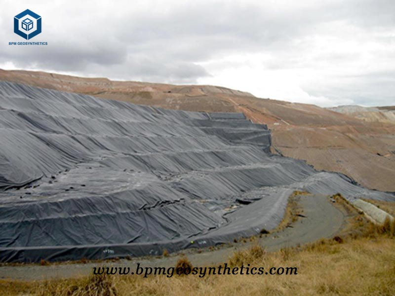 Smooth Geomembrane Sheet for Mining Project in Peru