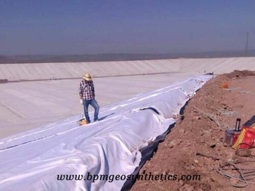 Short Staple Needled Punched Geotextile Fabric for canal