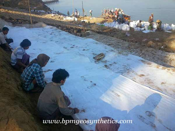 Continuous Filament Non Woven Geotextile fabric Project in Myanmar