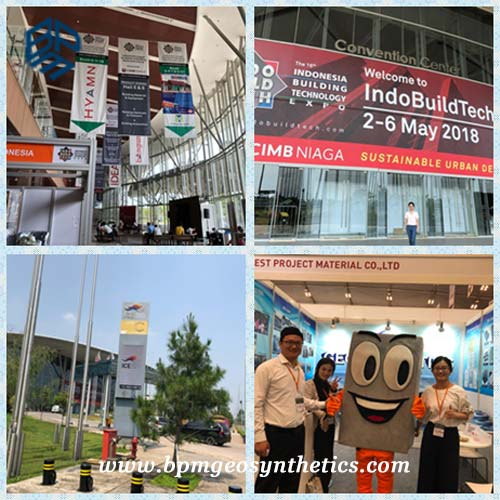 Geosynthetic Lining Systems were Showed on 16th Indonesia Building Materials Exhibition