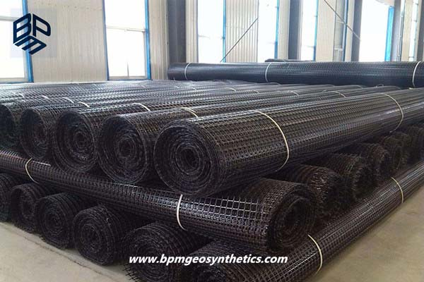 Warp Knitting Polyester Geogrid Fabric for Railway Project