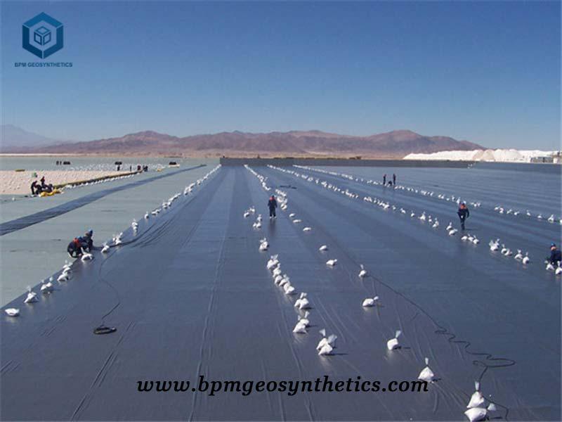 Black High Density Polyethylene Pond Liner for Salt Pond Project