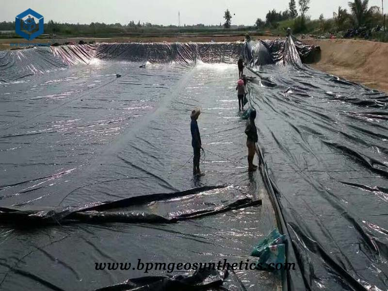 Black High Density Polyethylene Pond Liner for Salt Pond in Qinghai