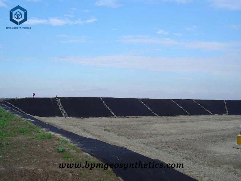 Black High Density Polyethylene Pond Liner for Salt Pond