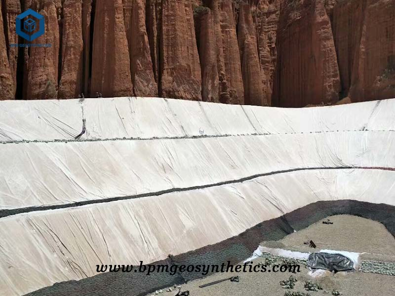 Geotextiles Liner for Road Construction Project in Qingdao